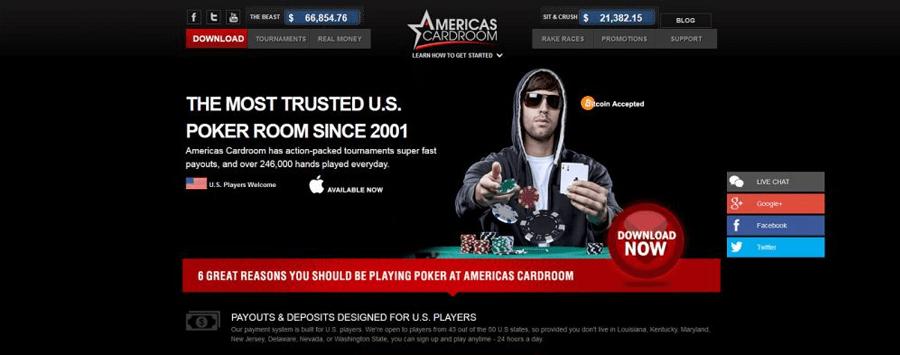 Americas Cardroom Bitcoin poker