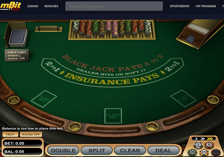 mbit bitcoin blackjack